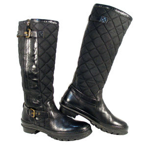 RALPH LAUREN COLLECTION Purple Label Quilted Boots